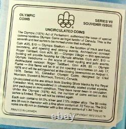 1976 UNC Canadian Olympic Coin Set Series VII