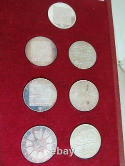 1976 Winter Olympics Innsbruck, Austria 14 Coin Proof & Uncirculated Silver Set