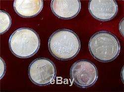 1980 Moscow Olympic Silver Coin Set 5 -10 Ruble Rouble 28 Coins Box COA