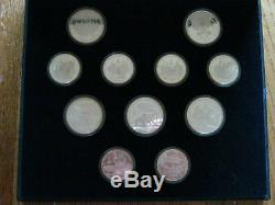 1980 Moscow Olympics 28 Coin SILVER Coin Set Boxed Over 20 ounces of SILVER F015