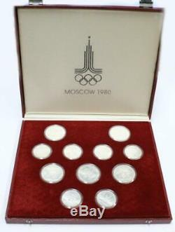 1980 Moscow Olympics. 900 silver 28 coin set 20+ ounces of pure silver UNC withbox