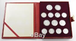 1980 Russia 28 Coin Moscow Olympics Silver Proof Set -Velvet Display Book 6804