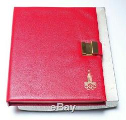 1980 Russian Olympic 28-Coin Silver Proof Set with Binder and Certificates