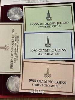 1980 Russian Olympic Coin Silver Coin Set. 5 And 10 Roubles