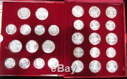 1980 Silver Russia Olympics 28 Rouble Mint State Coins Complete Box Set & Papers