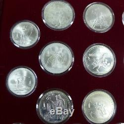 1980 USSR 5 & 10 Roubles Moscow Olympics (28 coins). 900 Silver set in Box