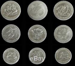 1982 Silver Greece Pan European Olympic Games Proof & Mint State 18 Coin Set