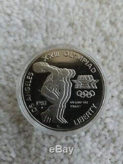 1983 1984 LA Olympic 3-Coin Set with COA/1 Gold $10 & 2 Silver $1
