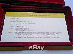 1983 1984 Olympic 3 Coin Proof Set $10 Gold Eagle 2 Silver Dollars Box & COA'S