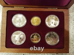 1983-1984 Olympic 6 Coin Set- 2- $10 Gold Coins 4 Silver Dollars Proof & Bu