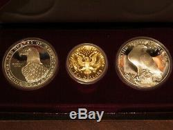 1983 & 1984 US Gold & Silver Olympic 3-Coin Commemorative Proof Set Lot A