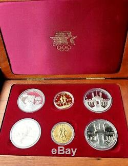 1983 & 1984 US Gold & Silver Olympic 6-Coin Commemorative Proof Set