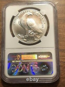 1984-D Olympics Commemorative Silver One Dollar Coin NGC MS70! Rare GEM TOP POP