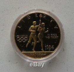 1984 Los Angeles Olympic $10 Gold and 2 Silver Dollars Commemorative 3 Coin Set