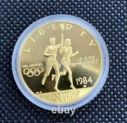 1984 Los Angeles Olympic Coin Set Gold $10 + 2 Silver Dollars
