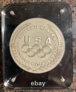 1984 USA Olympics 1.5 oz Silver OLYMPIC Games- DISCUS Salvador Dali Coin