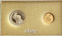 1984-w & S, Gold $10 Silver $1 Olympic Commemorative 2 Coin Proof Set