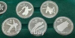 1985-87 Canada $20 Silver 1988 Calgary Olympic Games Silver Proof Coin Set OGP