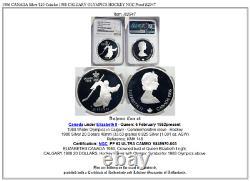 1986 CANADA Silver $20 Coin for 1988 CALGARY OLYMPICS HOCKEY NGC Proof i82947