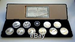 1988 Calgary Olympic Set 10 Silver Coins Totalling 10 Oz Silver