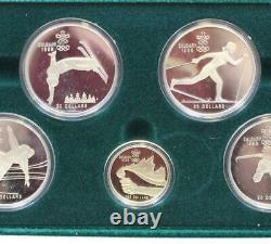 1988 Calgary Olympic Silver & Gold Proof set 11-coins with case & certificates