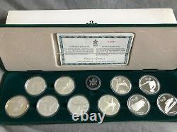 1988 Calgary Olympics 10 sterling silver coin set