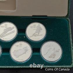 1988 Canada Calgary Olympics SILVER 10 Coin Proof Set withCase+ COA #coinsofcanada