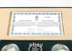 1988 Canada Calgary Silver Proof Olympic 10 Coin Set COA and original Velvet Box