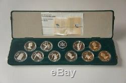 1988 Canada Calgary Winter Olympic Proof Silver Coins with BOX & C. O. A