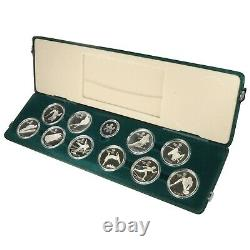 1988 Canada Calgary Winter Olympics 10 Silver Coin Proof Set! 10 Troy Oz Silver