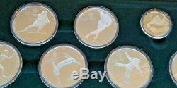 1988 Canadian Canada Calgary Winter Olympics 11 Coins Gold $100 Silver Set Proof