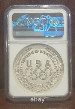 1988 NGC MS68 UNITED STATES 1.5oz Silver OLYMPIC- ARCHERY Salvador Dali