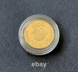 1988 Olympic Commemorative 2 Coin Set US Mint $5 Gold & Silver Dollar with COA