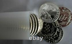 1988 Olympic Torch Commemorative Silver Proof Dollar Roll of 20 $1 US Coins