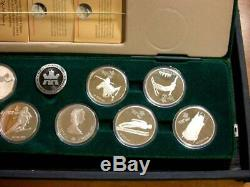 1988 Royal Canadian Mint 925 Silver Calgary Olympic Winter Games 10 Coin Set
