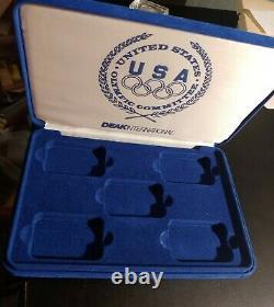 1988, Salvador Dali, 5 Piece Silver Proof Olympic Medallion Set