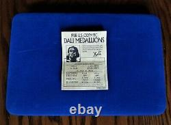 1988 Salvador Dali Cubist 5 Medal. 999 Silver Proof Olympic Set COA Case