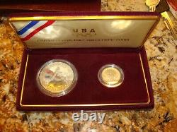 1988 Two Coin US Olympic Games Gold and Silver US Coins