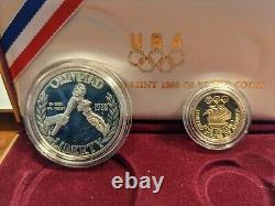 1988 U. S. Mint Olympic Coin Proof Set With Gold Five Dollar & Silver Dollar