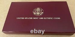 1988 US Olympic -2 Coin $5.00 Gold & Silver Proof Set -Original Packaging MINT