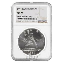 1992 D Olympics $1 Silver Dollar Commemorative NGC MS 70