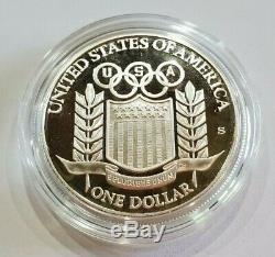 1992 US Mint Olympic Commemorative 3 Coin $5 Gold & $1 Silver UNC Set as Issued