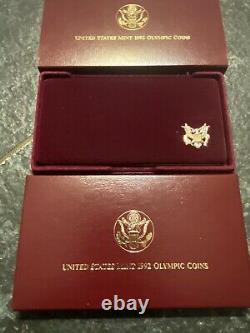 1992 US Olympic 3-Coin Commemorative Proof Set Silver & Gold