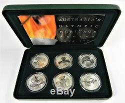 1994 -1996 OLYMPIC HERITAGE 6 Coin Set