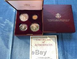 1995-1996 Atlanta Olympics Commem Proof BU Gold, Silver Clad 4 Coin Set $5 Torch