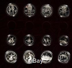 1995 & 1996 Olympic Commemorative Half Dollars & Silver Dollars 24 Coins