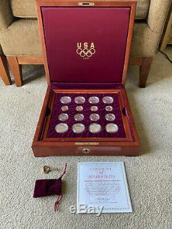 1995 1996 U. S. Olympic Games 32-Coin Gold & Silver Commemorative Set Proof & BU