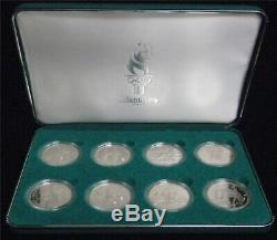 1995-96 Atlanta Olympics 8-Coin Commemorative Proof Silver Dollar Set OGP #JL104