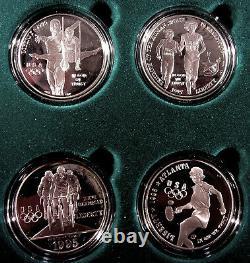 1995-96 P Atlanta Olympics 8 Coin Commemorative Proof Silver Dollar Set