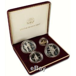 1995 US Olympic Games 4-Coin Commemorative Proof Set Torch Runner